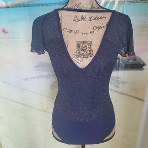 AERIE Real Obsessed Velvet Bodysuit 💙